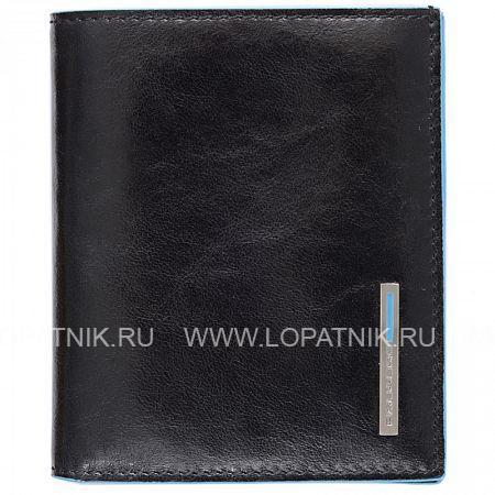 Купить Мужское кожаное портмоне PIQUADRO PP1518B2/N, Черный, Натуральная кожа